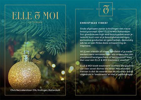 Kerstflyer Elle & Moi